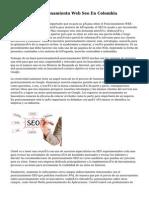 Servicio De Posicionamiento Web Seo En Colombia
