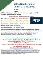 Disability Debate 29 Sept 2015