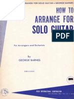 George Barnes - How to Arrange for Solo Guitar