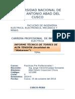 Informe de Torres de Alta Tensión - Abel Edwin Ccoyccosi Chura