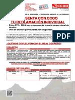 2121787-Comunicado Politica Sindical, Negociacion Colectiva y Empleo Reclama Con CCOO La Extra y Los Dias 22