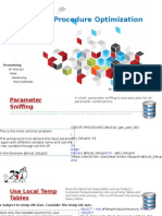 Storedprocedure tuning and optimizationt sql