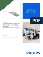 Luminaria Phillips Offisimple 4x18W Rejilla - Oficinas
