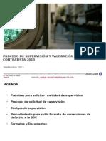 Proceso de Supervisión y Valoración a Contratista 2013