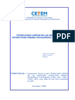 Tecnologías Limpias en Las Industrias Extractivas Minero-metalúrgica y Petrolera