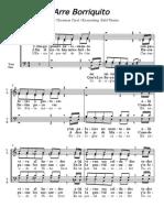 Bald Wyntin-Choir (a Capella) Arrangements-Arre Borriquito