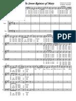 Bald Wyntin-Choir (a Capella) Arrangements-Seven Rejoices of Mary Choir