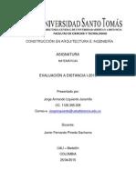 Evaluación a Distancia I-2015