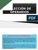 Selección de Operarios