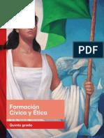libro de Formación cívica y ética 5to 2015