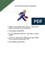 Preguntas Para Evaluación Formativa en Capacitación