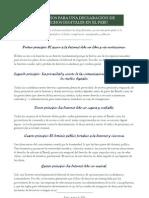 Declaración de Derechos Digitales en el Perú