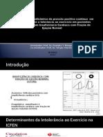 Projeto Efeito Agudo Da Pressão Positiva Contínua Sobra a Tolerância Ao Exercício Em Pacientes Com ICFEN 2014 4