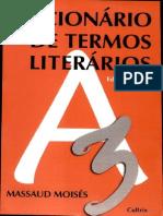 Dicionário de Termos Literários - Massaud Moises