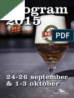 Program Stockholm Beer & Whisky Festival 2015