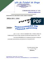 CO N.º 478 FUTEBOL 7_FICHA DE PARTICIPAÇÃO EM PROVAS OFICIAIS 2015_2016