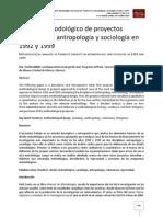 Análisis metodológico de proyectos Fondecyt en antropología y sociología en 1992 y 1999