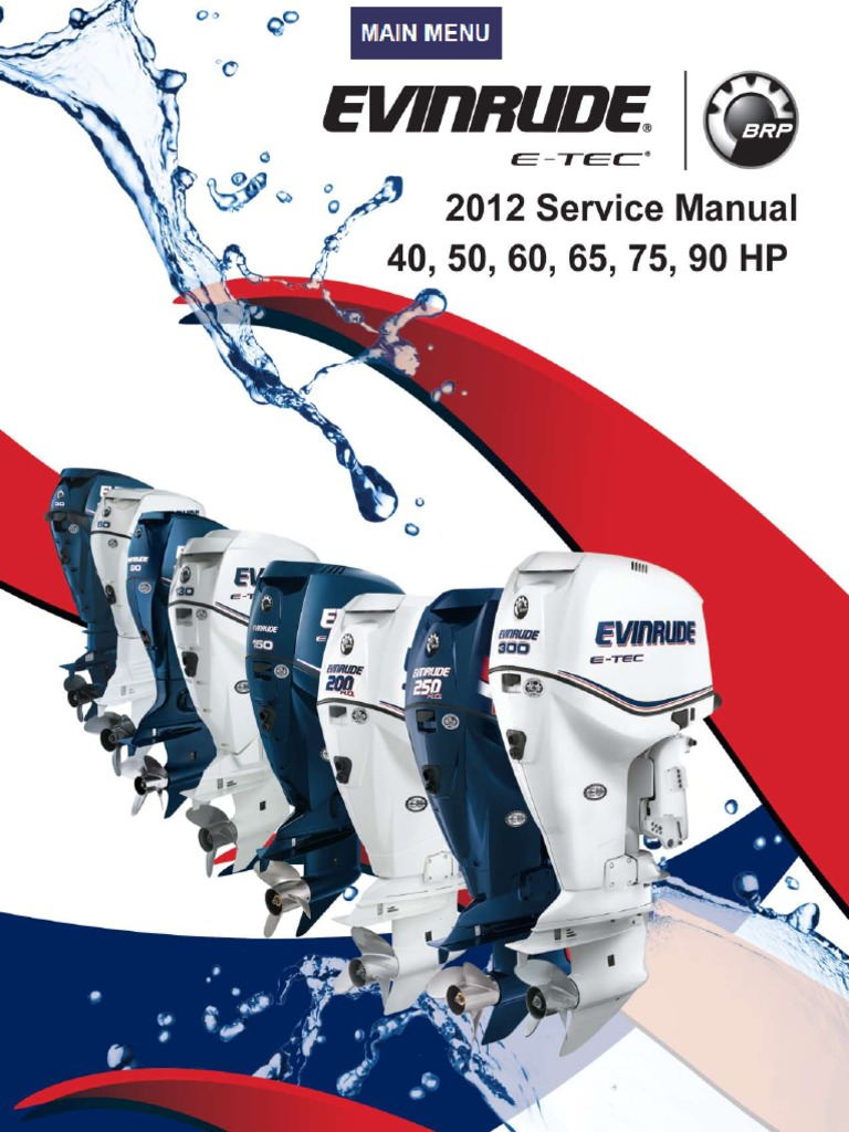 Evinrude Servicemanual2012 40 50 60 65 75 90pdf Electrical 80 Hp Mercury Oil Injection Wiring Diagram Connector Cylinder Engine