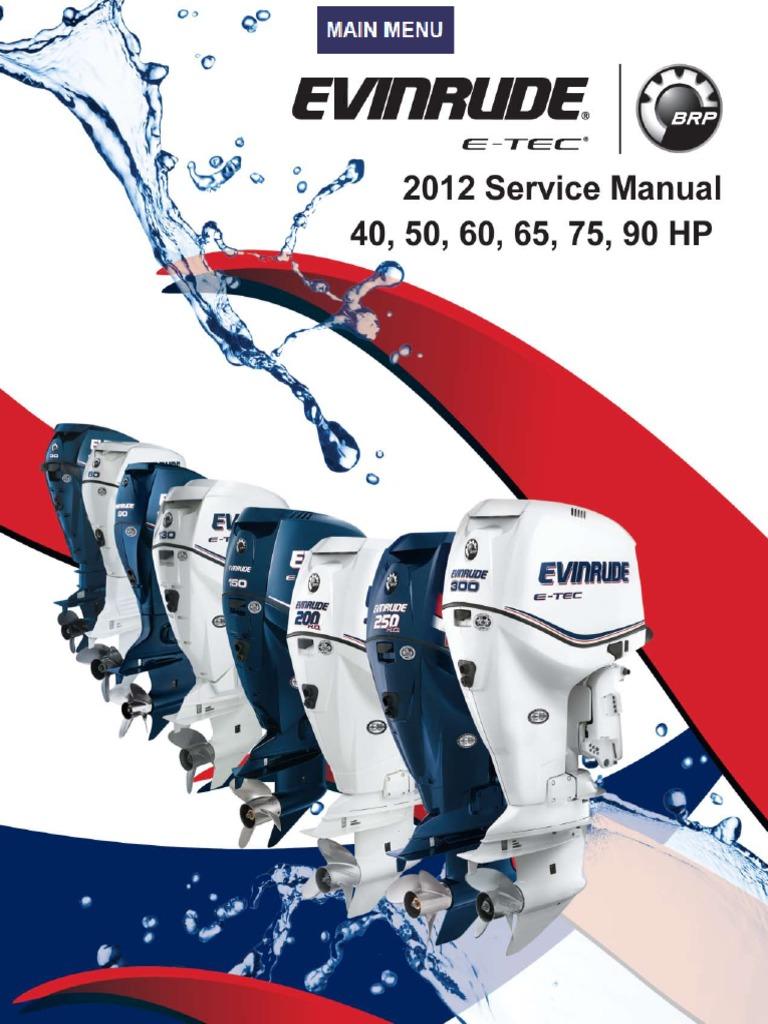 evinrude etec wiring schematics evinrude servicemanual2012 40 50 60 65 75 90 pdf ignition system  evinrude servicemanual2012 40 50 60 65