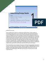 Determining Energy Needs
