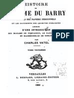 Histoire de Madame Du Barry - Charles Vatel 1883 Tome 3
