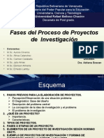 FASES DE UN PROYECTOS DE INVESTIGACIÓN