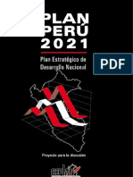 CEPLAN PUBLICA PARA EL DEBATE EL PLAN PERÚ 2021