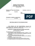 Pre Trial Brief Prosecution