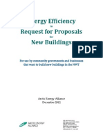 Energy Efficiecy in RFP for New Buildings Jan 2013
