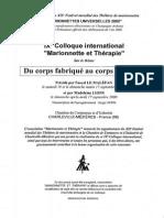 Marionette Et Therapie n.28