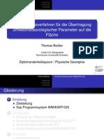 Vortrag zur Diplomarbeit - Thomas Becker