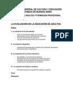 Evaluación de los aprendizajes en la educación de adultos