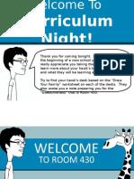 Curriculum Night 2015