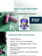 Curriculum Matters (PPDB)
