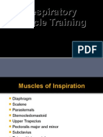 Ventilatory Muscle Training