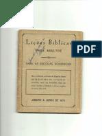 Lições Bíblicas - 1970 - 1° Semestre
