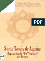 "Exposición del ""De Trinitate"" de Boecio - Tomas de Aquino (Super Boetium de Trinitate) [EUNSA, Navarra, 1987]"