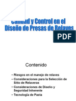 Calidad y Control en el diseño de relaves.pps