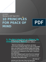 10 Principles for Peace of Mind