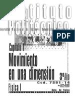 7301-14 FISICA - Movimiento en Una Dimensión -Cap 1