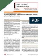 Chirhosis Dgn Deep Vein Thrombosis and Pulmonary Embolism in Cirrhotic