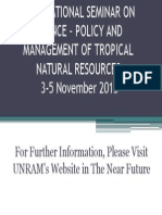 International Seminar on Science – Policy and Management
