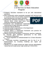 Outcome Goal of the K to 12 Basic Education Program