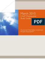 Chartered Alternative Investment Analyst Association Prequisite Guide March 2010