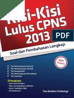 Kisi - Kisi Lulus CPNS 2013 Pembahasan