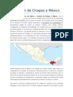 Anexión de Chiapas a México