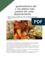mapa gastronómico del peru