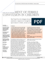 Management of Febrile Convulsion in Children