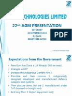AGM Presentation [AGM/EGM]