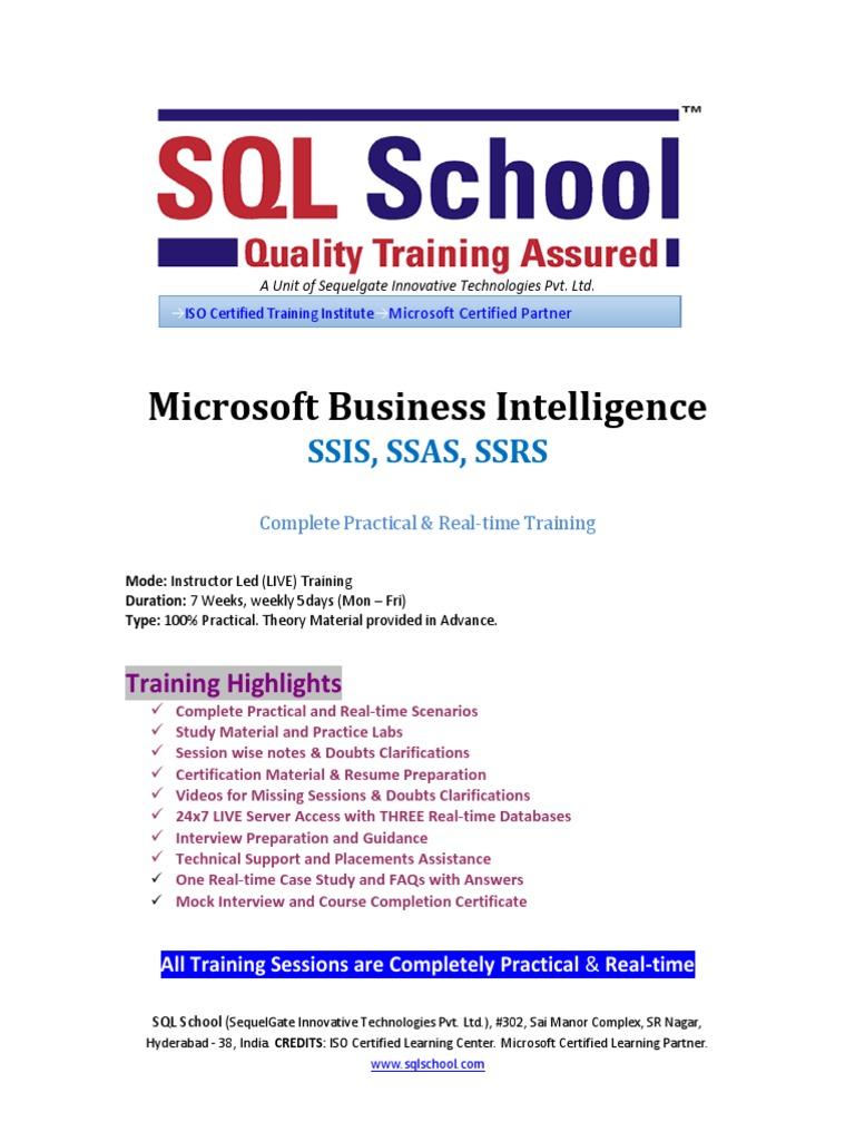 Msbi Online Trainingpdf Information Science Digital Social Media